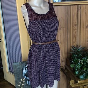 Garage polka dot and lace dress